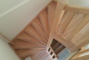 Beuken houten trappen op maat gemaakt