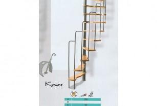 Ruimtebesparende trap Kronos 125 x 65 cm